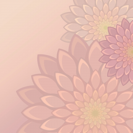 delicate flower background Vector