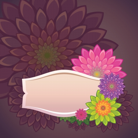 flowers label template Vector
