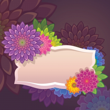 flowers tag label template Vector