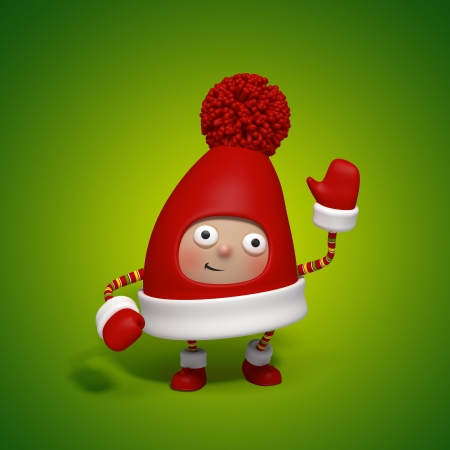 dwarf costume: Christmas character cap Stock Photo