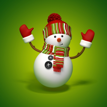 snowman jumps Stock Photo - 15756107