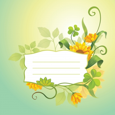 flower cover Vector