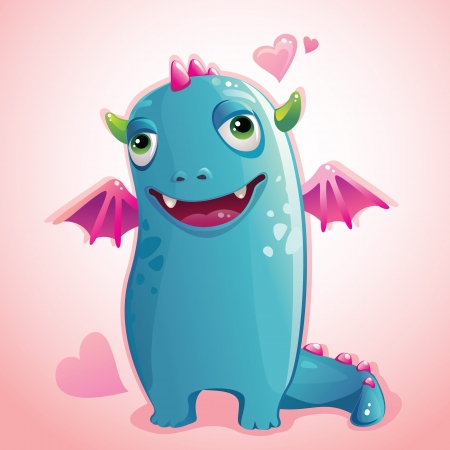 cute monster in love Vector