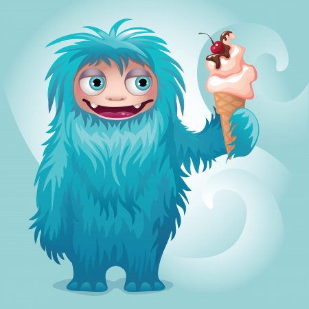yeti: monster yeti character ice cream