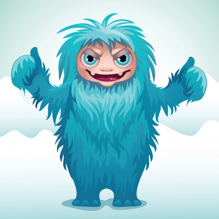 horrible monster Yeti Vector