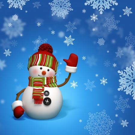 antarctica: snowman greeting