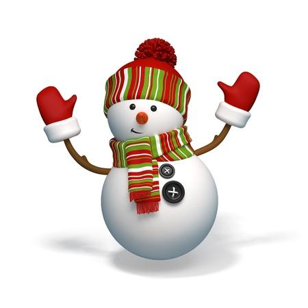 bonhomme de neige: bonhomme de neige de No�l caract�re Banque d'images