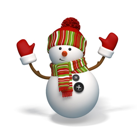 snowman isolated: christmas character snowman