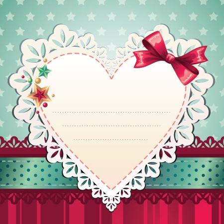 heart greeting Stock Vector - 15967014