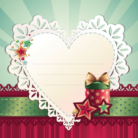 holiday heart greeting Vector