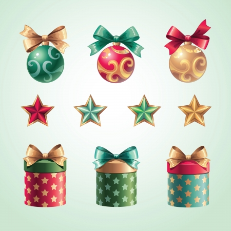 holiday gifts set Vector