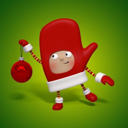 mitten: christmas character mitten