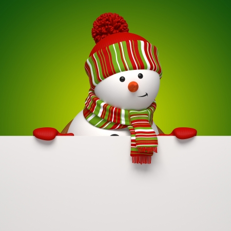 christmas costume: snowman banner Stock Photo