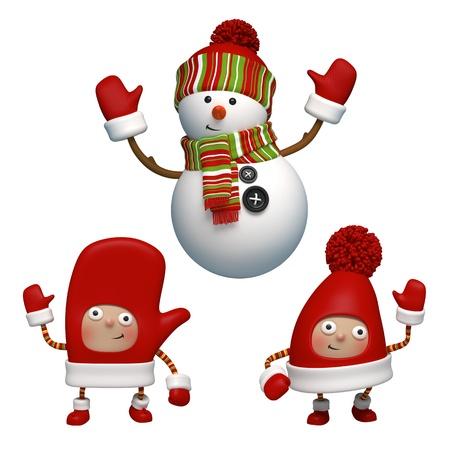 christmas character set Stock Photo - 15992188