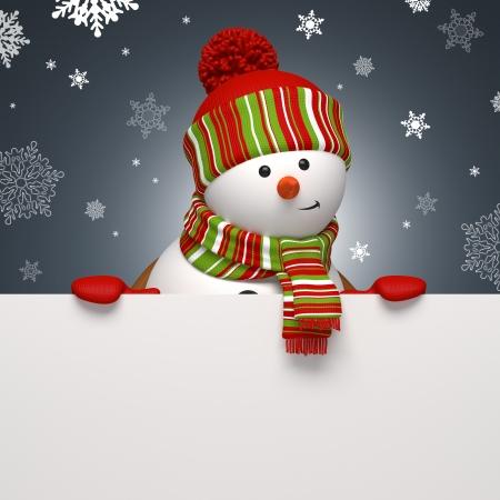 scarf: christmas snowman banner