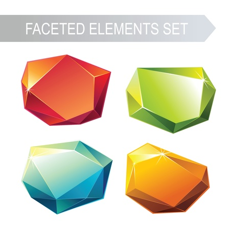 faceted: faceted glass elements Illustration