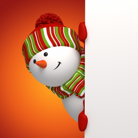 snowman isolated: snowman banner Stock Photo