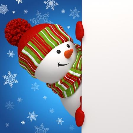 högtider: snowmaninnehav banderoll