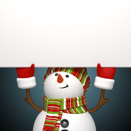 warm up: snowman banner Stock Photo