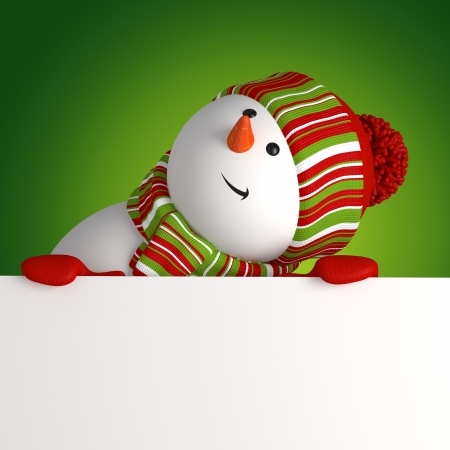 empty banner: snowman banner Stock Photo