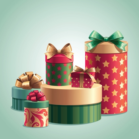 christmas motif: gifts boxes