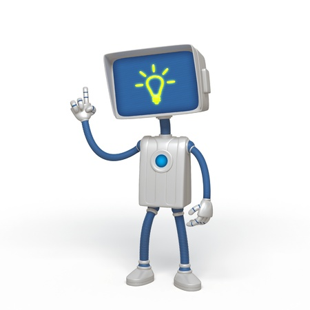 three object: robot idea