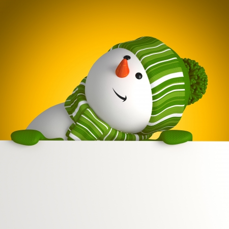 snowman greeting banner photo