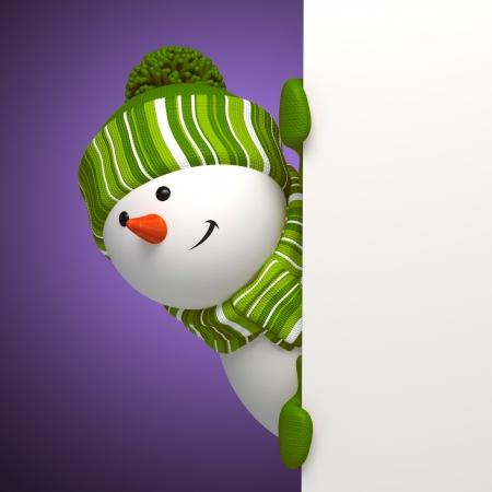 feast: new year snowman banner