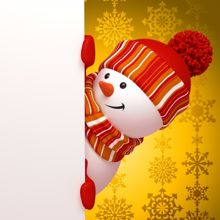 christmas snowman banner Stock Photo - 16508751