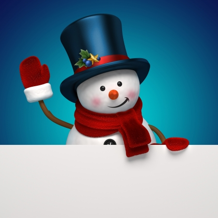 good humor: new year snowman greeting