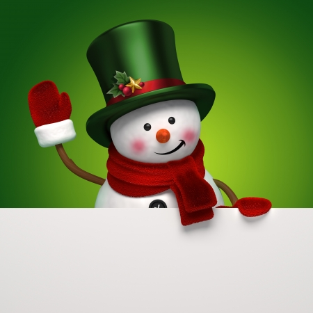 traditional events: christmas snowman greeting