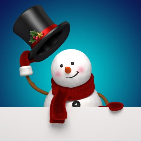 take: new year snowman greeting