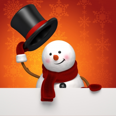 christmas snowman greeting Stock Photo - 16508744