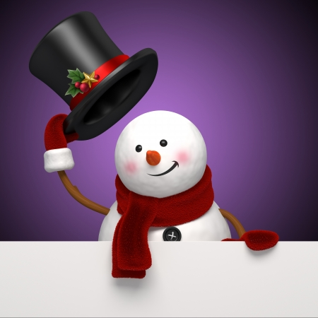 new year snowman greeting Stock Photo - 16508739
