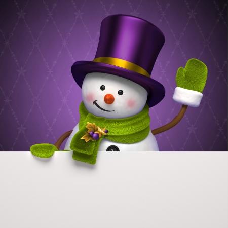 brooch: christmas snowman greeting