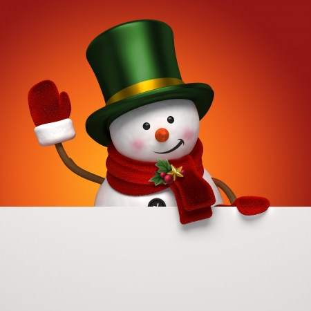 christmas snowman greeting photo