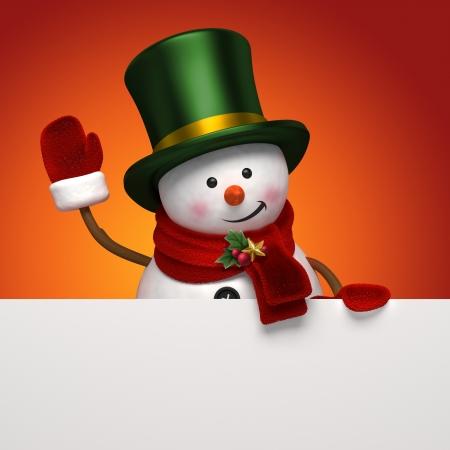 bonhomme de neige: salutation de bonhomme de neige de No�l