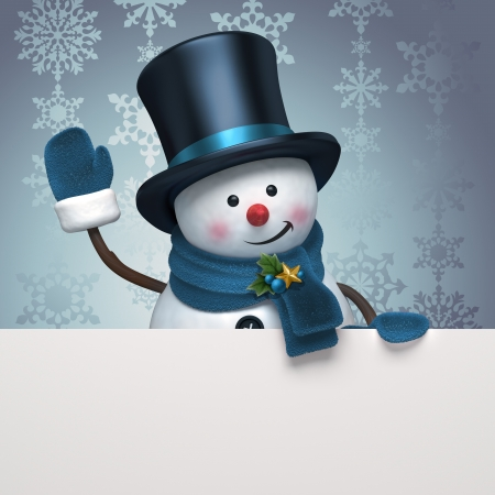 christmas tag: kerst cnowman groet banner
