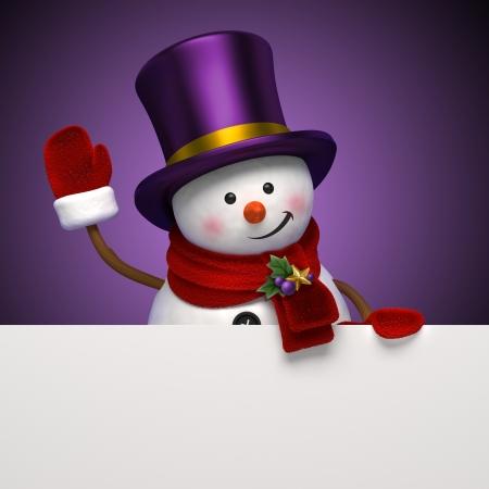 bye: new year snowman greeting