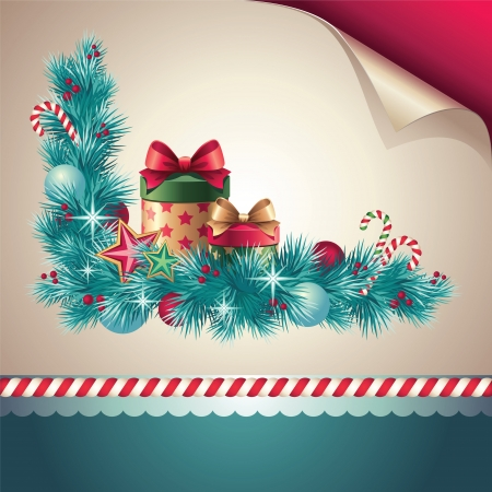 christmas decoration corner collection set Vector