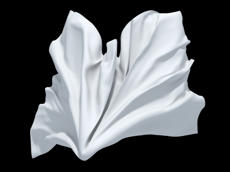 white cloth ghost background element Stock Photo