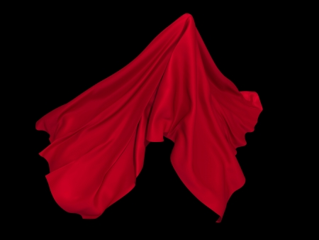 red ghost folded textile element