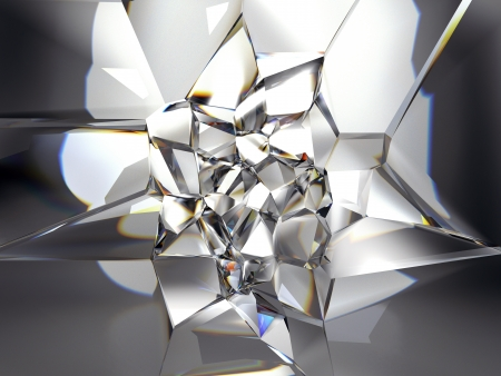 faceted: abstract clear crystal background Stock Photo