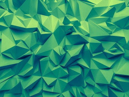 faceted: abstract trendy emerald green faceted background
