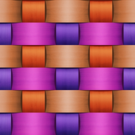 vintage weaving: abstract color wooden lattice background  Stock Photo