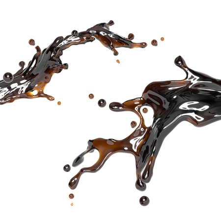 tea, coffee or cola drink splash  Dynamic liquid splash photo