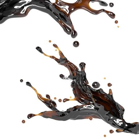 soy sauce: brown drink dynamic liquid splash Stock Photo