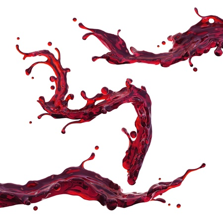 few: cherry juice or red wine dynamic liquid splash