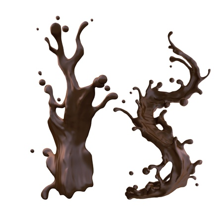 melting chocolate: liquid hot chocolate splash