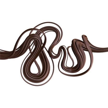flexible: 3d chocolate cream lines Stock Photo